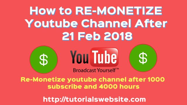 how to re-monetize youtube channel