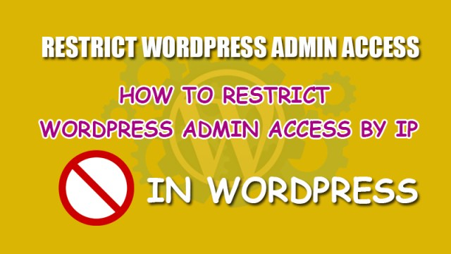 Restrict admin access by ip address