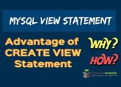 Advantage of Views Statement in MySQL