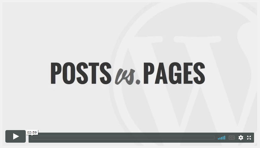 Post Vs Pages