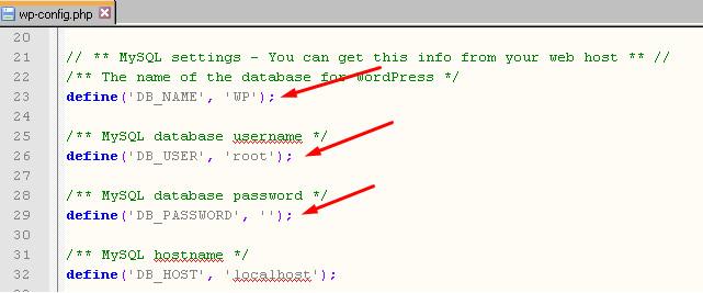 Ubah database WordPress