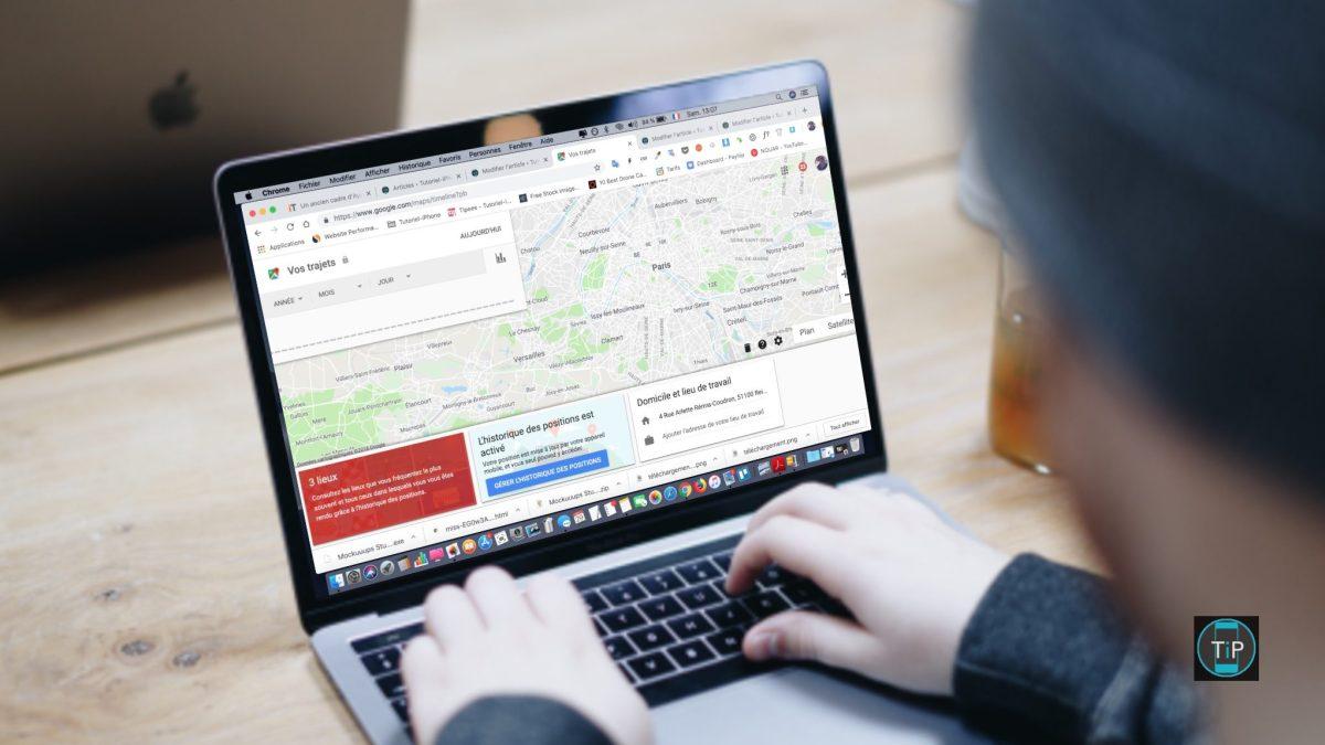 Comment supprimer l'historique des lieux dans google maps