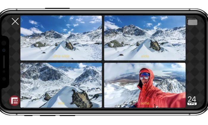 filmer 1 video avec 2 objectifs en meme temps iphone