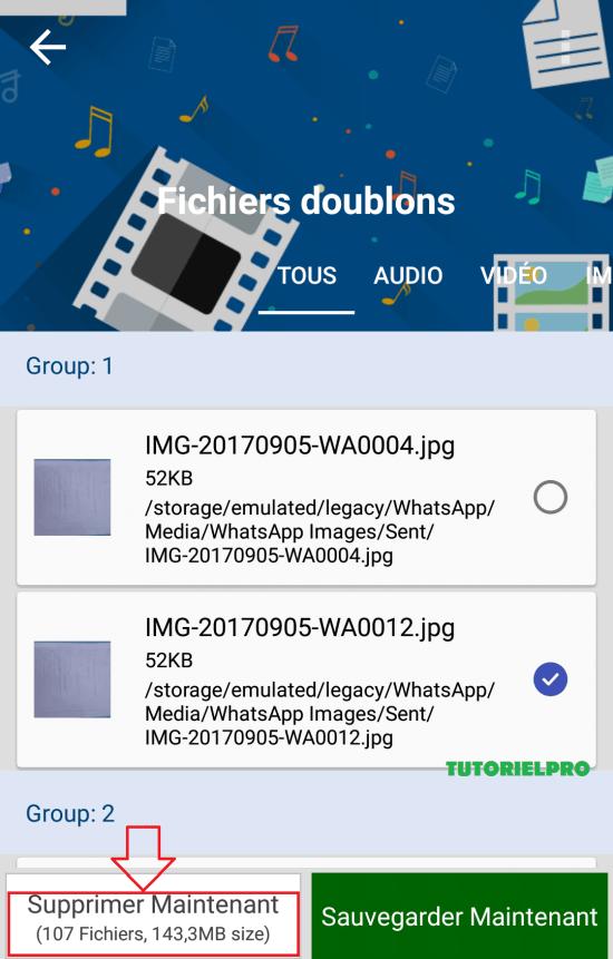 supprimer des fichiers en double