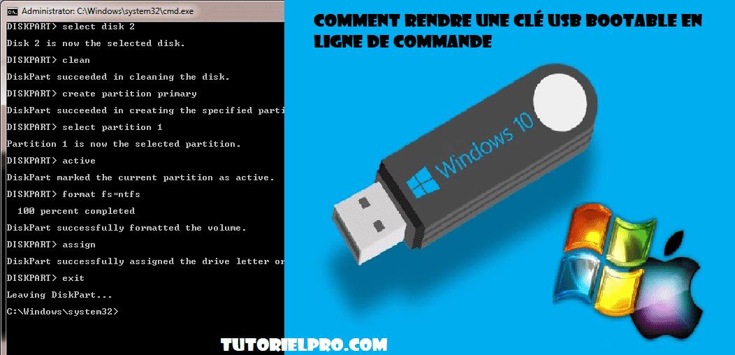 booter une clé usb avec cmd