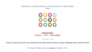 Journal congolais de la sante bucco-dentaire