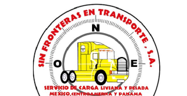 Logotipo de transportes S.A. un trailer amarillo en medio