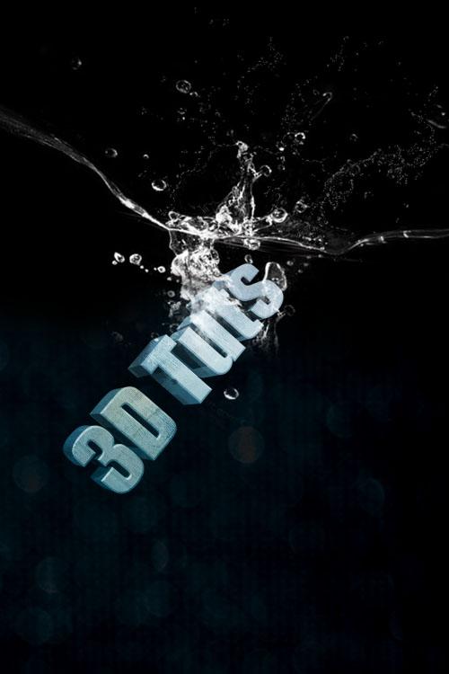 effet de Water splashing avec adobe photoshop