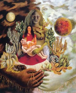 Amoroso abbraccio universo Frida Kahlo