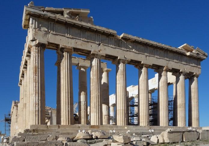 Partenone, arte greca V secolo a.C.