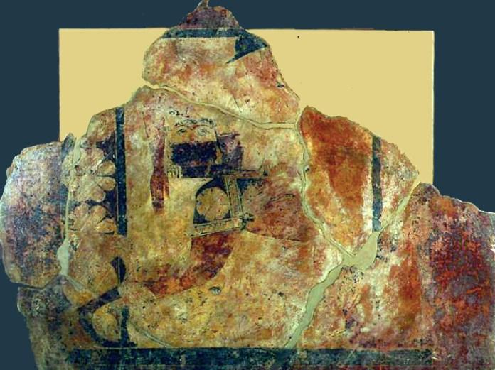 Frammento raffigurante Perseo con la testa di Medusa