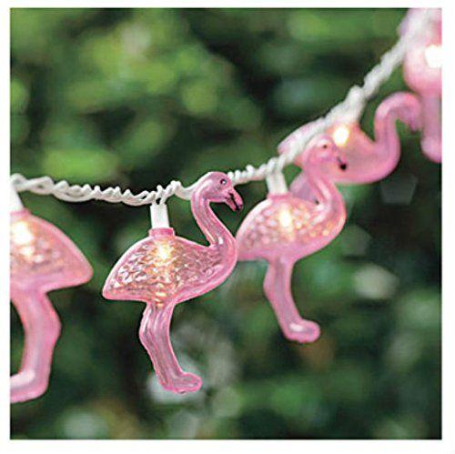 Ten Flamingos LED Battery Garland String Lights Tutti