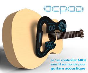 ACPAD : le 1er controleur MIDI sans fil pour guitare acoustique