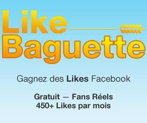 Like Baguette : jusqu'à 450 likes réels par mois + 150 offerts