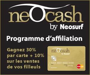 Cartes prépayées Neocash MasterCard® : programme d'affiliation pour webmasters