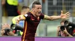 Florenzi Esulta gol al derby Primo piano