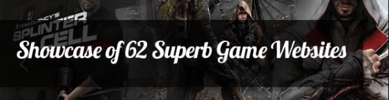 Showcase of 62 Superb Game Websites