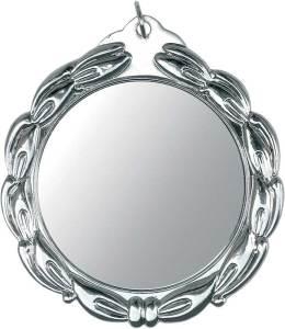 medaglia colore argento diametro 70