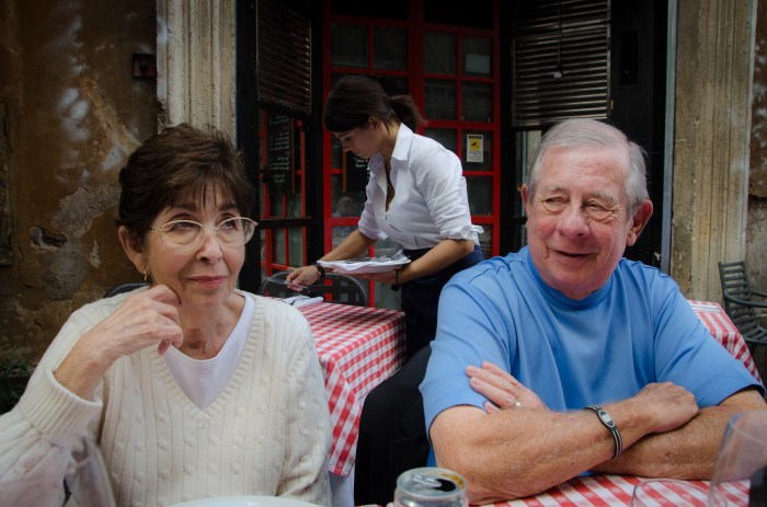 Addie & Ron enjoying lunch at La Scaletta