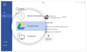 Google Drive plugin per Microsoft Office