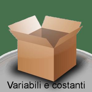 Variabili, costanti e tipi di dati