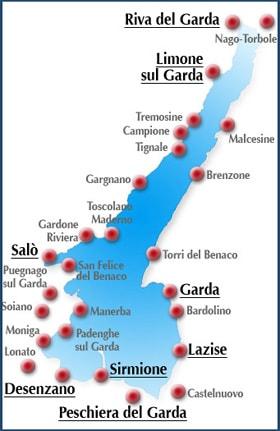 Cartina Lago Di Garda E Dintorni.Localita Turistiche Lago Di Garda Stufa A Pellet