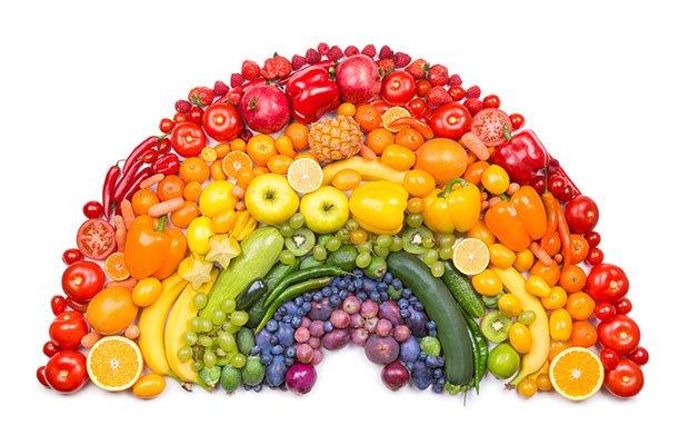 colori di frutta e verdura