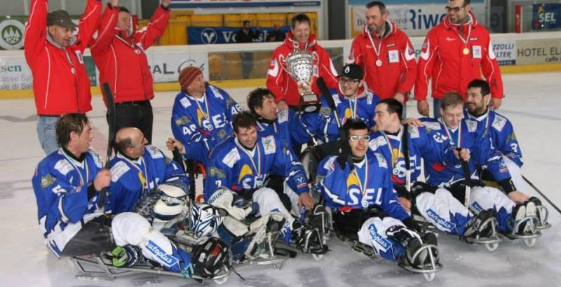 Sledge Hockey: ottavo scudetto per le Aquile Alto Adige