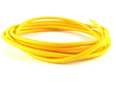 Cavo elettrico tessuto vari colori giallo