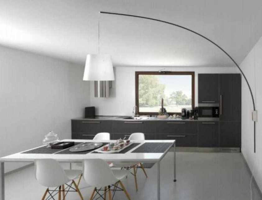 Lampada sospensione moderna parete soffitto Cursore nera