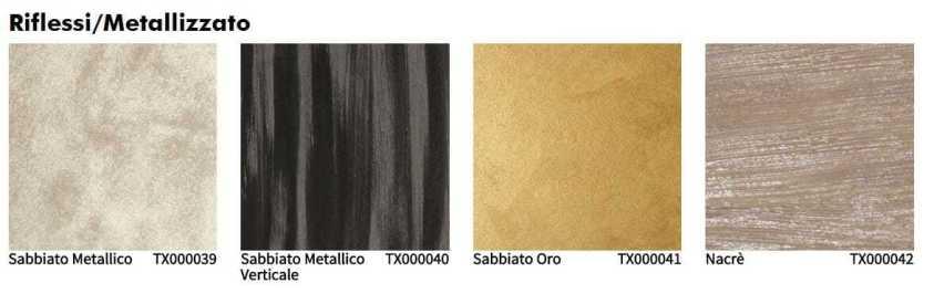 Oikos tinteggiatura decorativa interno riflessi metallizzato
