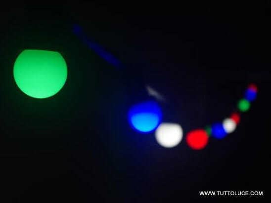 Lampadine led sfera e27 colore in policarbonato per uso in interno ed esterno