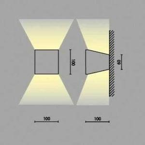 Lampada led parete 11 watt 885 lumen MIA