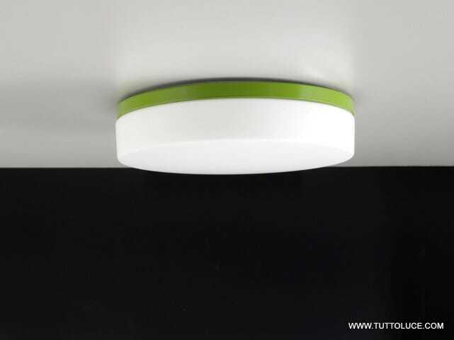lampade moderne vetro led verde