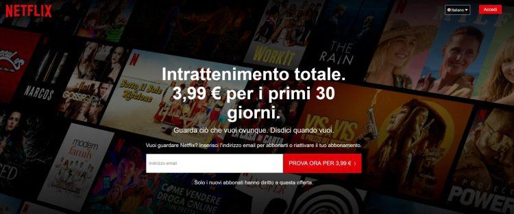 Netflix ripropone i 30 giorni di prova, ma non sempre in maniera gratuita 1
