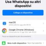 whatsapp beta ios multi-dispositivo supporto