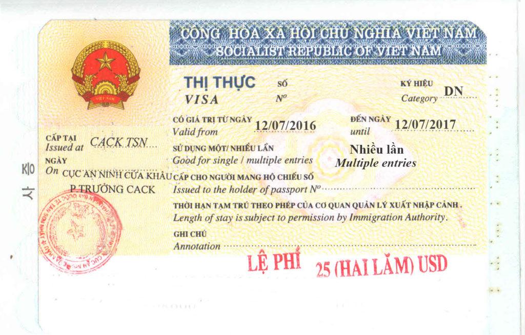 visto business per il Vietnam