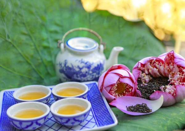 il tè al loto vietnamita