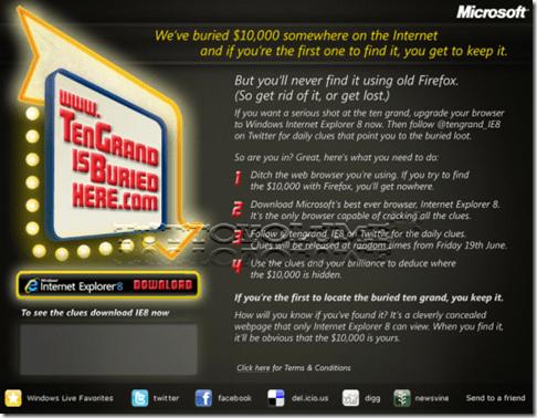 Internet Explorer 8 promozionale