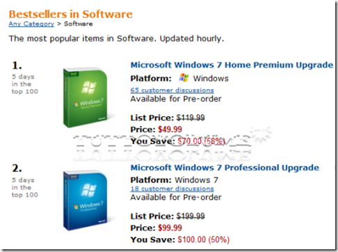 Windows 7 best-seller