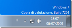 Windows 7 Build 7264 Italiano