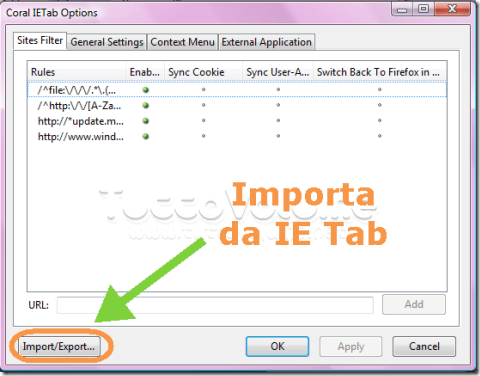 Coral IE_Tab_setting