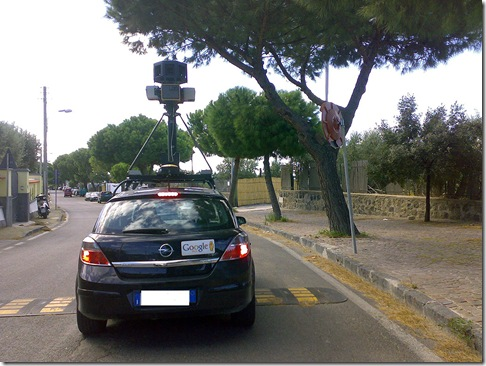 Google Street View Car a Ischia