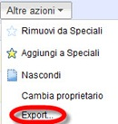 Google documenti esporta
