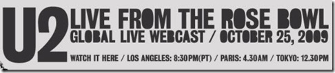 U2 live streaming