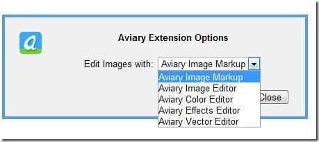 Aviary Extension Opzioni