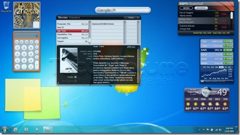 Kludgets Widget MAC OSX su Windows 7