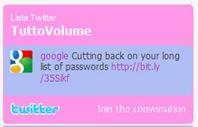 Liste Twitter widget