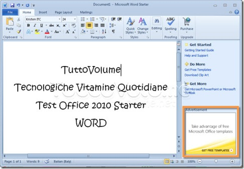 Office 2010 Starter Word