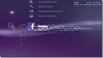 PS3 Firmware 3.10 Facebook